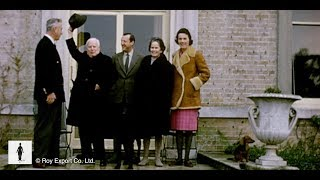 Charlie Chaplin visits Lord Mountbatten - Rare Colour Footage (1966)