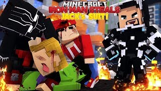 IRON MAN STEALS JACKS SUIT TO GO RESCUE ROPO AND THE MINEVENGERS - MINECRAFT ADVENTURE