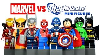 LEGO Marvel vs DC Superheroes KnockOff Minifigures Set 17 w/ Spider-Man Hulk & Batman