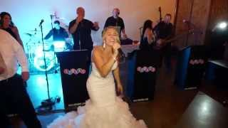 The bride sings Don't Stop Believing at her own wedding. by Just Joey Productions