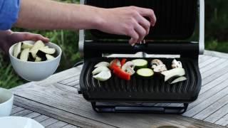 Zöldség grillezés Tefal Optigrill kontaktgrillben