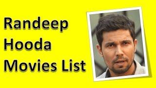 Randeep Hooda Movies List