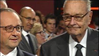 Un Jacques Chirac affaibli aux cotés de François Hollande