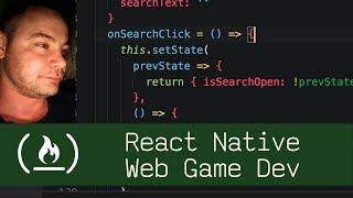 React Native Web Math Game Dev  (P7D11) - Live Coding with Jesse