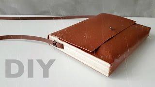DIY Leather Handbag with Wooden Sides  Minimalist Chic !