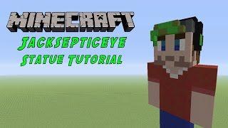Minecraft Tutorial: Jacksepticeye Statue