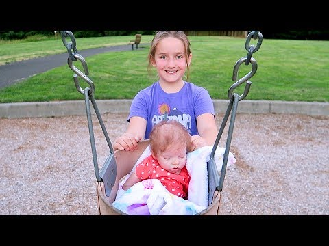 Reborn Baby Doll Day in the Life Diaper Change Park Outing Adventure Joovy Toy Room Doll Crib