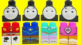 Thomas the Train heads on Paw Patrol Body