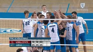Recap: UCLA Men's Volleyball Sweeps Ball State