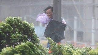 Typhoon Hato batters Hong Kong