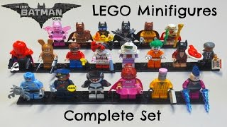 Batman LEGO Movie Minifigures - Complete Set & Bump Codes!