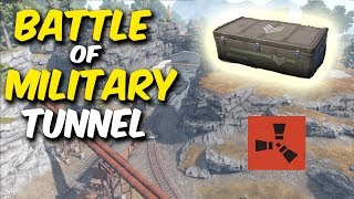 BATTLE of the MILITARY TUNNEL! Rust Solo Survival #1 - S1