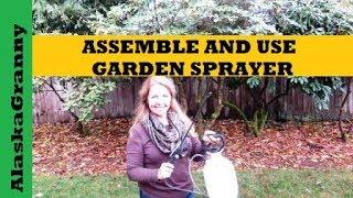 Garden Sprayer How To Assemble and Use HDX 1 Gallon Multi Purpose Sprayer