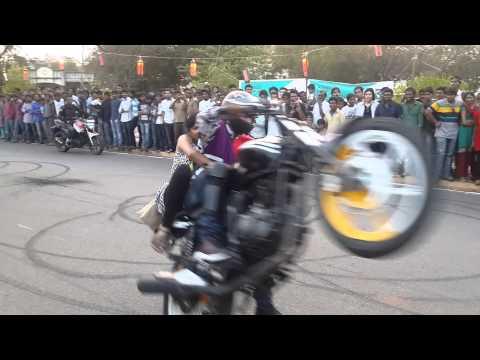 Xxx Mp4 Motor Cycle Stunts At NIT Warangal Spree 14 3gp Sex
