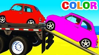 FUNNY CARS Transportation and Spiderman Cartoon with superheroes for kids and babies!