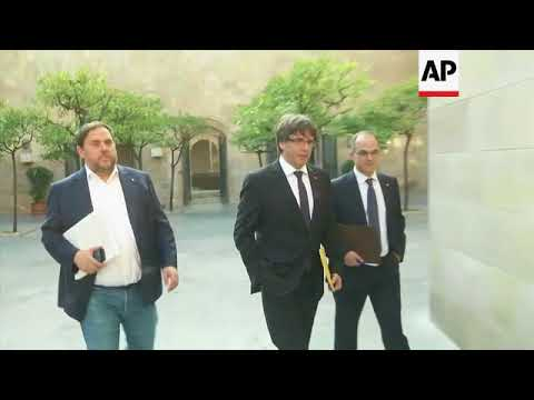 Xxx Mp4 Catalan President Carles Puigdemont Arrives 3gp Sex
