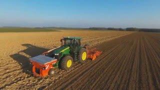 [Drone PIX] Semie de Féverole avec un John Deere 7290r et kuhn TF1500 BTFR4000