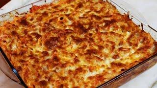 Fırında Makarna Tarifi ( beşamel soslu )
