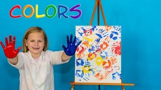 PAINTING with COLORS Learn Colors Painting with the Assistant  Funny Video