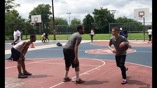 Professor hoopin in the hood North Philly and in Maryland ft. Pat The Roc and AO