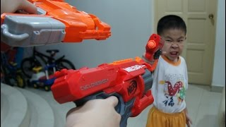 NERF BigShock, CycloneShock and FlipFury : The Offspring Trolling Review!!