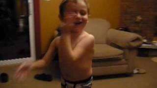 Boy Dancing In Underwear