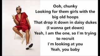 Bruno Mars  Chunky Lyrics  Letras