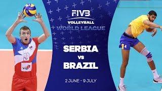 Serbia v Brazil highlights - FIVB World League
