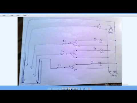 how to construct a simple water level indicator mini electronics project for school