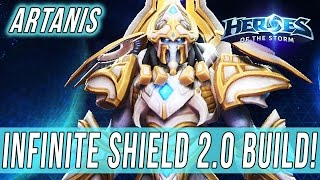 ARTANIS, INFINITE SHIELD 2.0 BUILD! - SOLO QUEUE SILLINESS [Heroes Of The Storm]