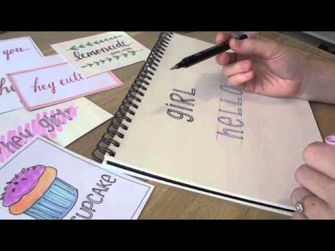 Simple Hand Lettering- A Step by Step for Beginners