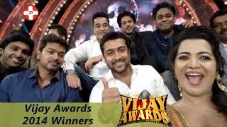 Vijay Awards 2014 Winners Full List | Actor Vijay | Siva Karthikeyan | Kamal Haasan | Aarambam