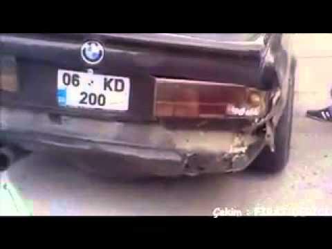 06 KD 200 Bmw Drift Kaza Ankara Drag Yarışları