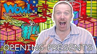 Opening Christmas Presents with Steve and Maggie   Stories for Kids   Speaking Wow English TV