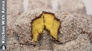Australian Cake - Lamington Chocolate Cake Recipe Without Oven by Kitchen With Amna