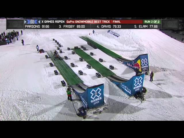 Jackson Strong Snowmobile Best Trick - X Games Aspen 2013 - Winter X Games