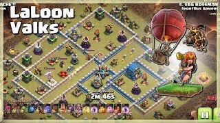 Awesome Air Attacks: LALOON with VALKS | TH12 War Strategy #87 | COC 2018 |