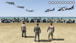 What Happens If You Get 10 Stars in GTA 5? (Epic Cop Battle, Escape and Real Prison)