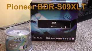Pioneer BDR S09XLT BluRay Disk Writer & TDK BD R Disks Unboxing
