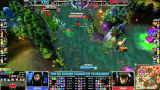 XDG (Xmithie Lee Sin) VS LMQ (Vasilii Lucian) Game 3 Highlights - 2014 NA LCS Summer Promo
