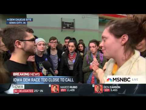 Young Iowa voter drops F bomb on MSNBC Brian Williams and Rachel Maddow apologize