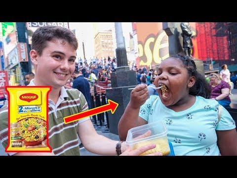 American Strangers Try Indian Maggi for the First Time