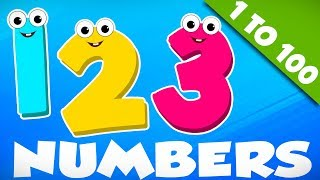 Big Number Song | Learn Numbers From 1 To 100 | Nursery Rhymes By Kids