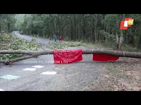 Xxx Mp4 Maoists Block Baliguda Daringbadi Road On NH 59 In Kandhamal District Seeking Public Support For Odi 3gp Sex