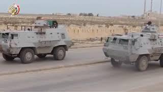 شاهد الحملة العنيفة للجيش المصري علي سيناء و الهجوم الجوي والارضي و البحري ليلة امس