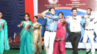 Singham Dance by STAFF-AADYA-2013 Apoorva  Degree College Freshers' Day