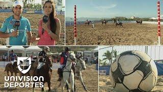 Así se juega el polo de playa en México