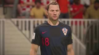 World Cup 2018 England vs Croatia - Semi Finals 2018 Full Match Sim (FIFA 18)