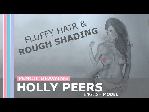 Xxx Mp4 Pencil Drawing Of Glamour Model Holly Peers Fluffy Hair And Rough Shading 3gp Sex
