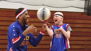 10-Year-Old With Genetic Disorder Gets Honorary Jersey From Harlem Globetrotters